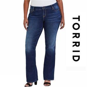 """torrid Jeans - Torrid Bootcut Dark Wash Jeans Size 24T 33"""" Inseam"""